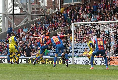 The goal that started it all: Glenn Murray, the nPower Championship player of the month, scores the first goal against Sheffield Wednesday on September 1, since when Palace have never looked back     SP68680