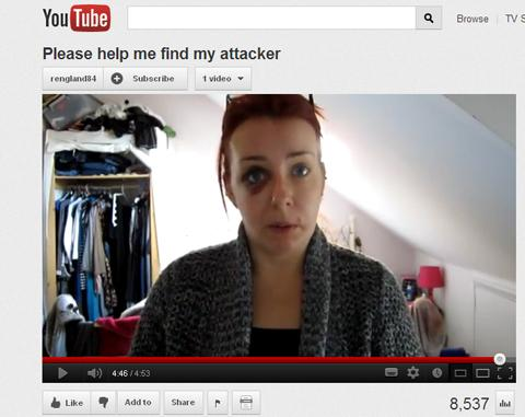 Assault victim Rachel England posts You Tube video to help catch attacker