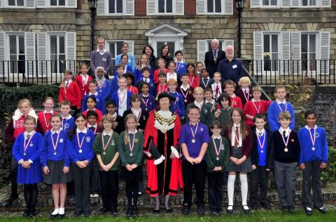 Young politicians: Children from across Richmond took part