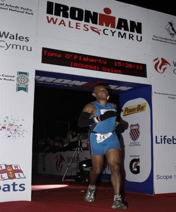 Tony O'Flaherty told he would never walk again completes Welsh Ironman endurance race