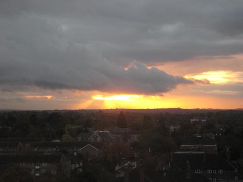 Sunset over Sutton