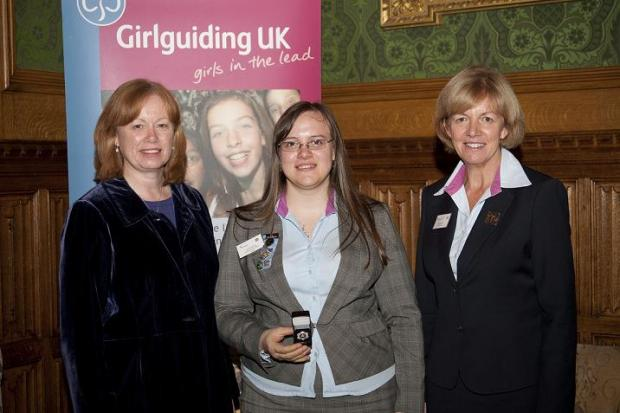 Guide leader is awarded the Queen's Guide Award