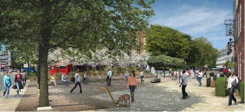 An artist impression of the new square