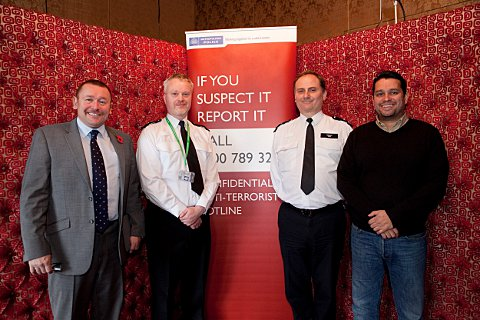 Paul Markham from the University of Roehampton (Assistant Director of Property and Facilities Management), PC Dan Wray (Wandsworth Borough), In