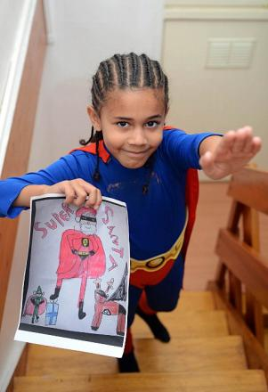 Clapham boy Reuben Bowes in final of Daybreak Xmas card competition
