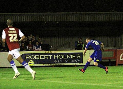 Take that: Charlie Strutton opens the scoring against York City     SP71719