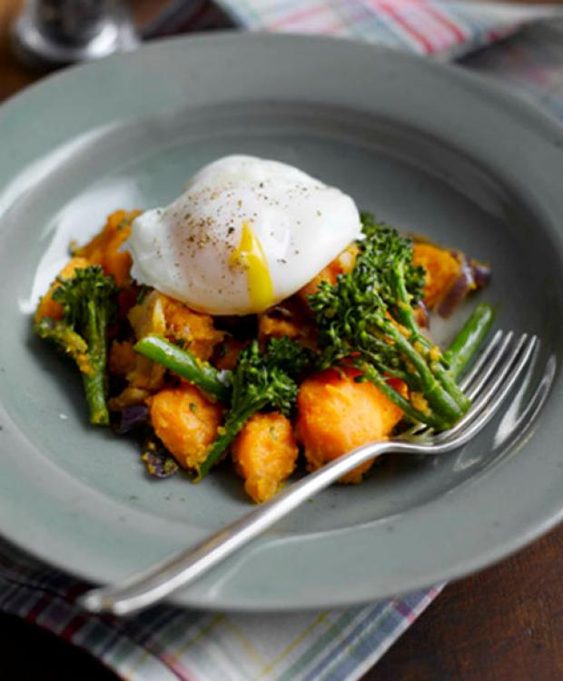 Recipe: Sweet Potato and Tenderstem Broccoli Hash