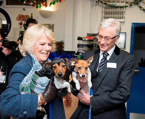 The Duchess with Beth, and Paul O'Grady with Bluebell