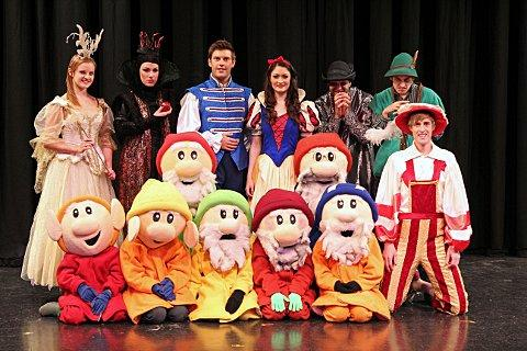 Cast of Snow White and the Seven Dwarfs, Epsom Playhouse.