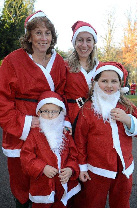 Santas dash to the aid of good causes