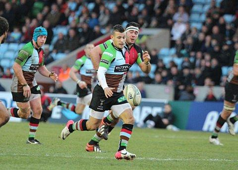 On song: Danny Care ensured his run of good form continued with a try against London Irish on Saturday