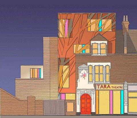 An artist impression of the Tara Theatre after its renovation