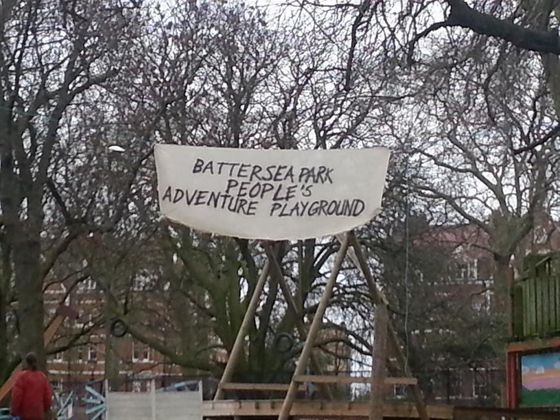 VIDEO: Occupy London protesters set up camp in Battersea Park playground