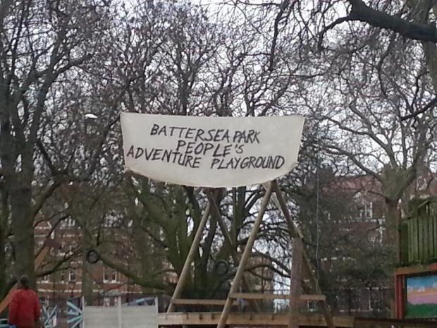 Occupy London protesters set up camp in Battersea Park playground