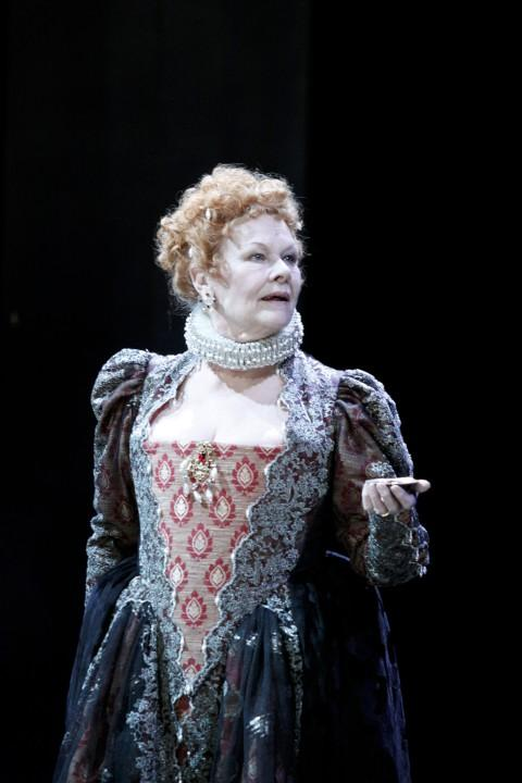 The dress of Dame Judi Dench, seen here in A Midsummer Night's Dream at the Rose in February 2010, is to be auctioned off tonight
