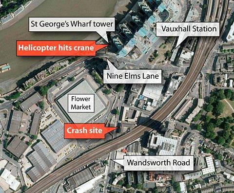 Two killed after helicopter crashes into Nine Elms high-rise tower