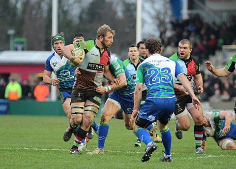 Leading from the front: Quins captain Chris Robshaw in action against Connacht