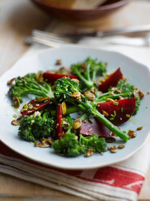 Recipe: Tenderstem, Beetroot & Toasted Seed Salad with Lemon Dressing