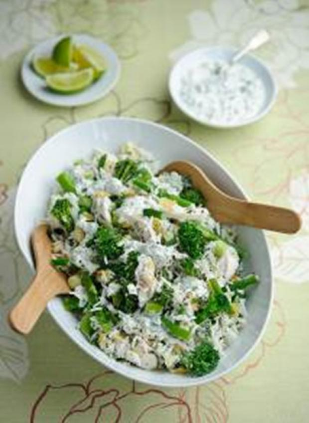 Recipe: Lime and coriander chicken and Tenderstem rice salad