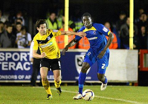 Crocked but confident: Curtis Osano will miss tonight's visit of Port Vale, but he believes his mates can take the points    SP72027