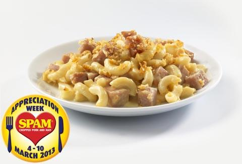 Recipes for SPAM® Appreciation Week (March 4-10 2013): SPAM® & Macaroni Cheese