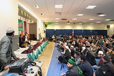 Muslim's gather at Tooting Leisure Centre to celebrate Eid Milad Un Nabi