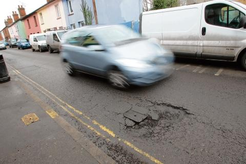 The council has committed £6.2m to repairing the roads