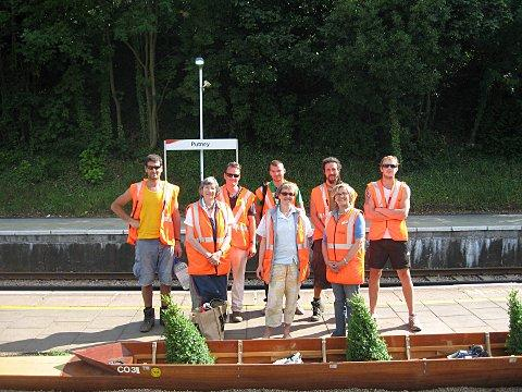 Putney Station's 'memorial boats' temporarily moved into storage