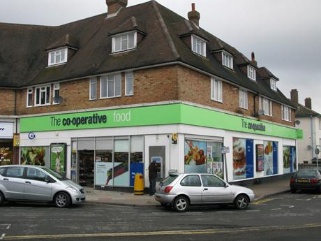 A cash delivery driver was attacked and suffered facial injuries outside the Co-op store in Tattenham Crescent, Epsom