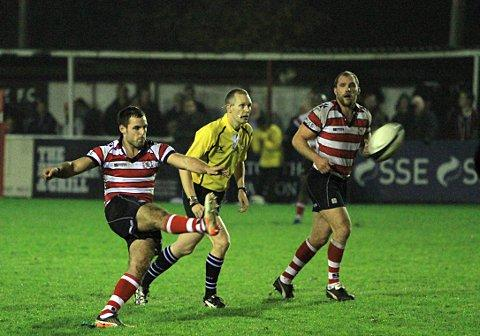 Back for Park: Sam Katz, scoring against Esher early in the season, has returned from starring in the England Students' 25-20 win over Portugal where he bagged 20 points		           SP71849