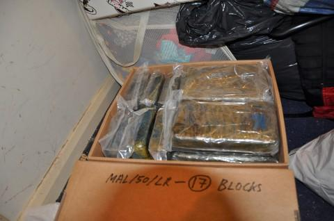 Cocaine blocks were recovered