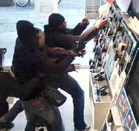 The gang targeted a Carphone Warehouse in Shepherds Bush