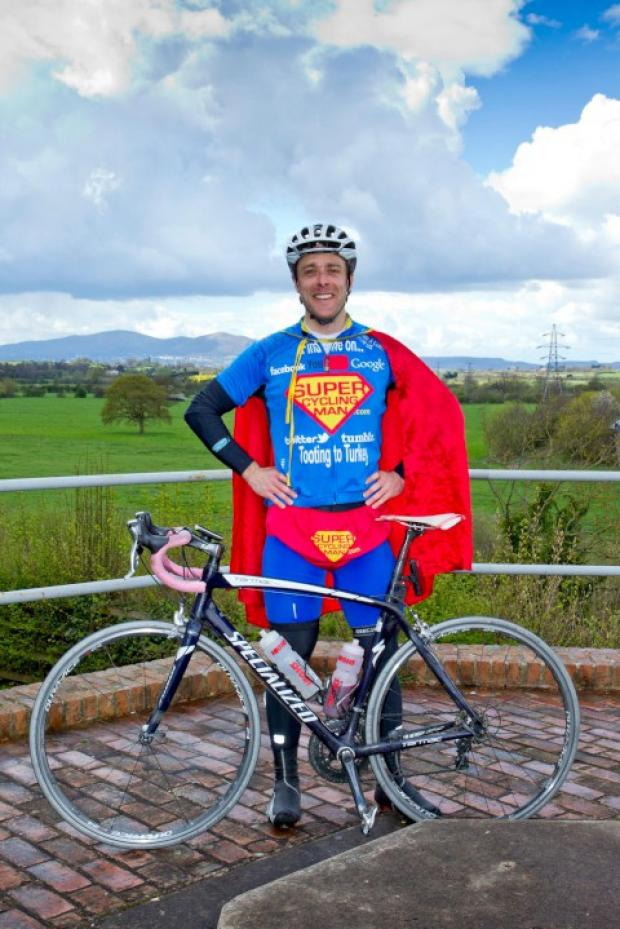 Wandsworth Guardian: Will Hodson aka Super Cycling Man