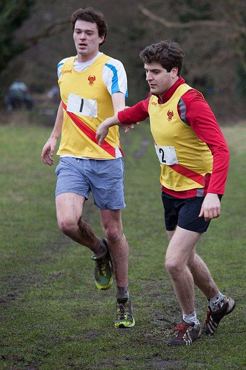 Time to change: Alex Urban hands over to Jeremy Brown in the seniors relay race   SP73649