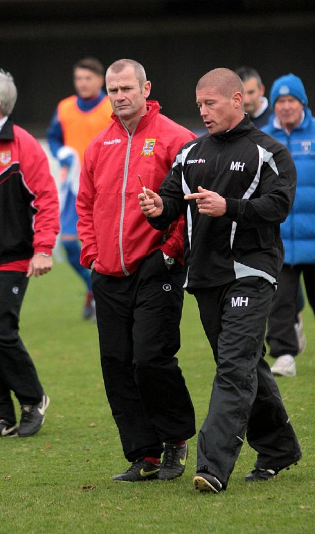 Selection headache: Ks boss Alan Dowson, left, and assistant Mark Hams have much to ponder this weekend