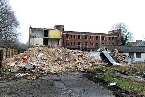 Putney Hospital after it collapsed