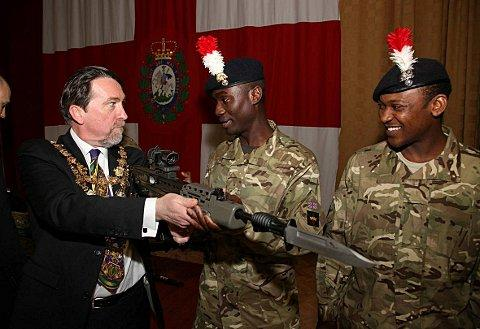 Gun-toting Mayor of Wandsworth brings order to TA awards