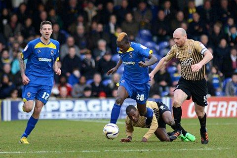 Wandsworth Guardian: Flying winger: Toby Ajala in action during the 2-1 win over Bradford City    SP73094
