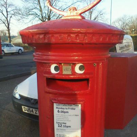 The new face of post box graffiti