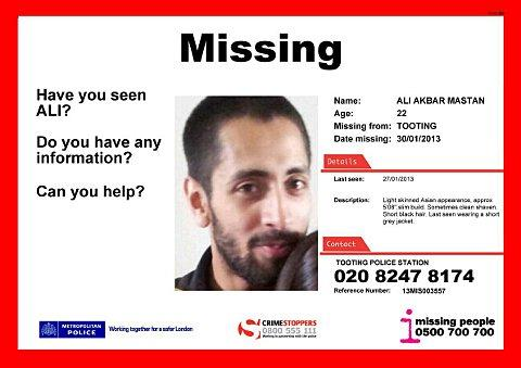 Missing Tooting man found safe and well