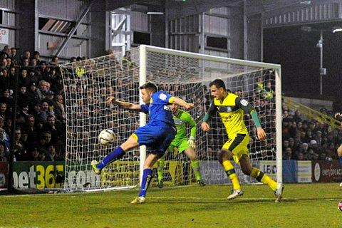 Hitman: Gary Alexander drew a blank against Plymouth Argyle on Tuesday night   SP74266