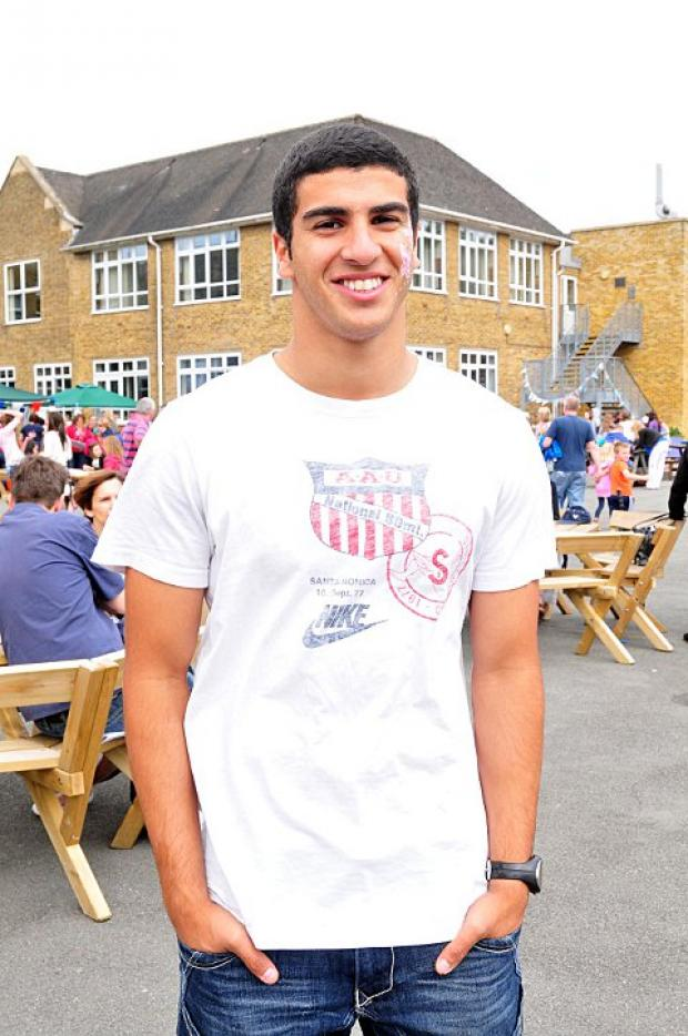 Star of tomorrow, today: Adam Gemili, who reached the London 2012 100m semi-final started out at the Hercules Wimbledon Young Athletes open meeting    BE68160