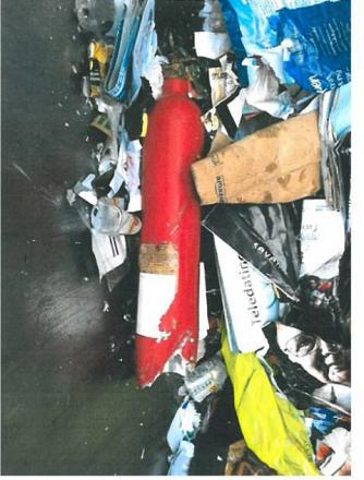 Fire extinguisher explosion leaves recycling team