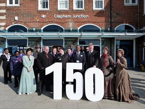 Staff celebrate the 150th anniversary