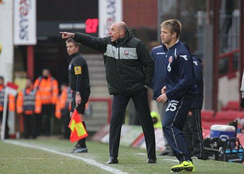 Demanding more: Uwe Rosler is wants his players to step up to the plate when they go on the road   SP73020
