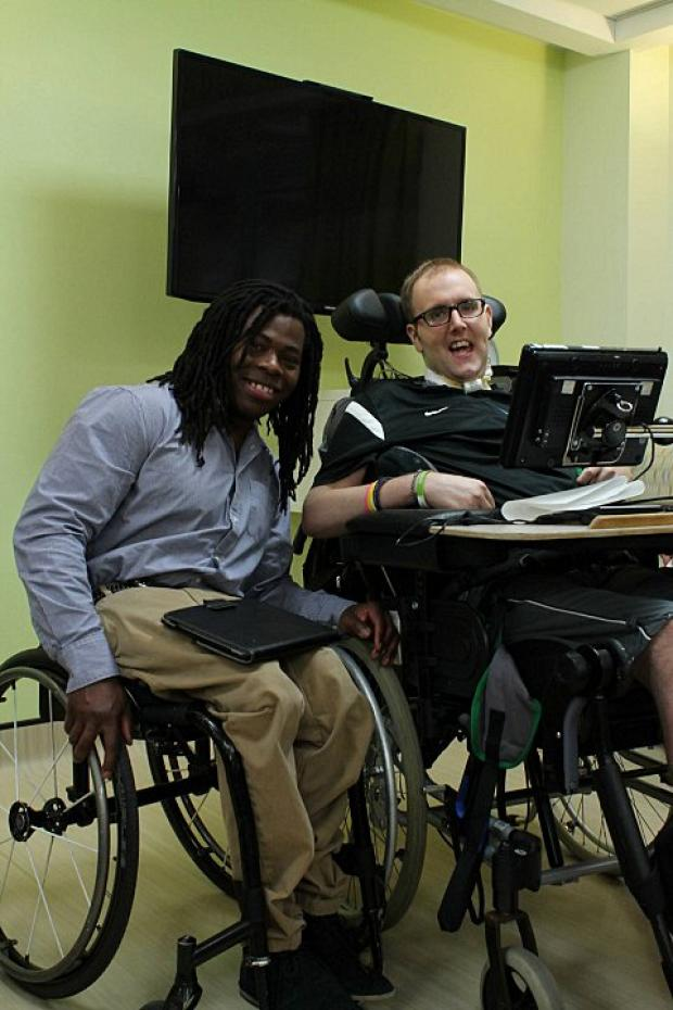 Adepitan with one of the RHN's patients