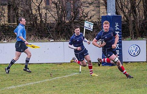 Highlight: Hugo Ellis's early try gave Park hope on Saturday but they ended the day on the losing side. Credit: Charlie Addiman