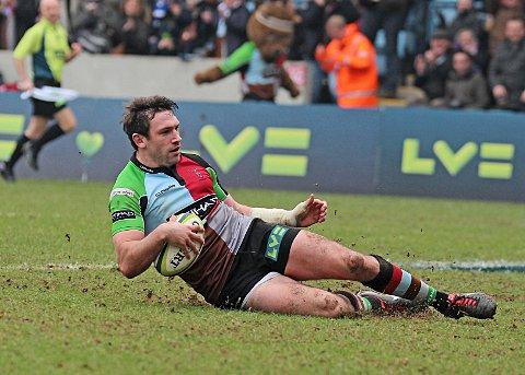 Top form: Tom Guest has revelled in, and benefitted from, Quins' successful cup run     SP74693