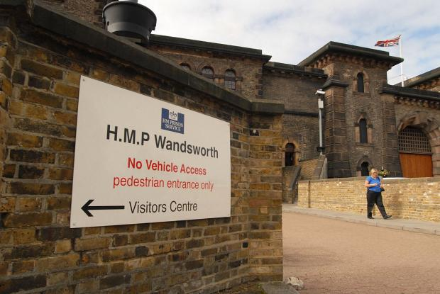 Four fire engines were called to the prison in Heathfield Road, Wandsworth, at 1.20am today