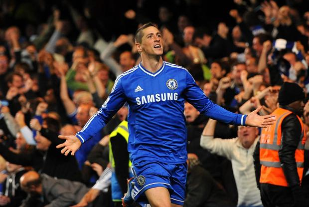 Wandsworth Guardian: Fernando Torres after scoring his late winner against Manchester City in October 2013. One of only 20 goals scored in three years.